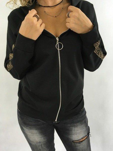 Bluza czarna rozpinana