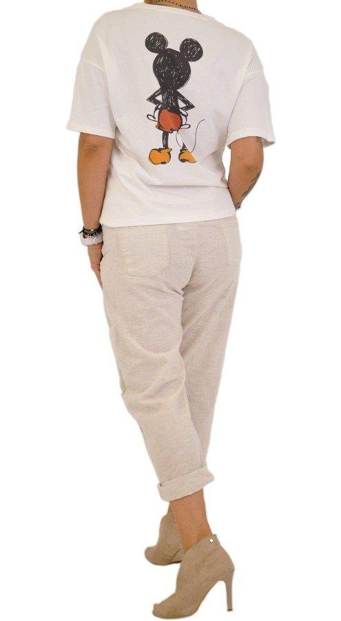 Bluzka biała z Myszką MIki z przodu i na plecach