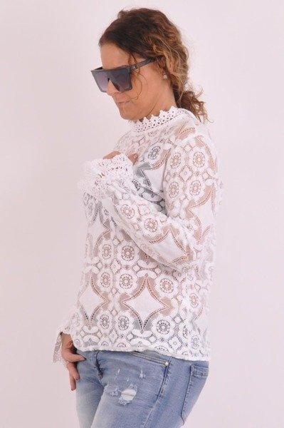 Bluzka biała z koronką
