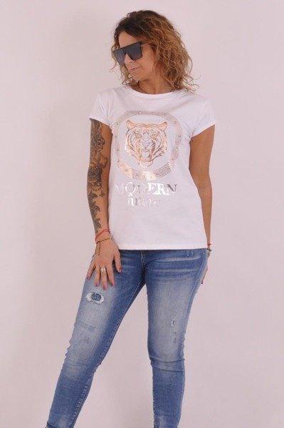 Bluzka biała z lwem