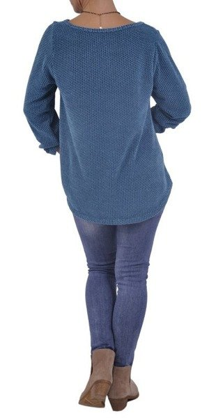 Bluzka melanż turkus