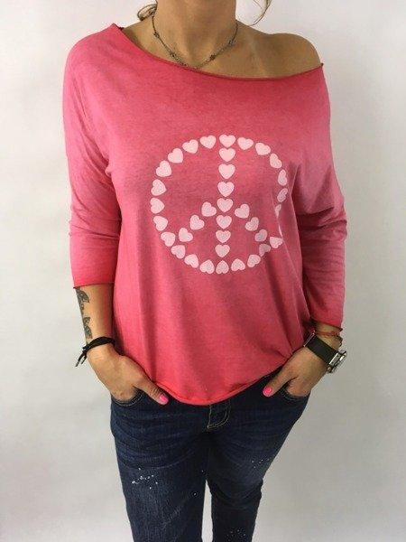 Bluzka pacyfka serca rózowa