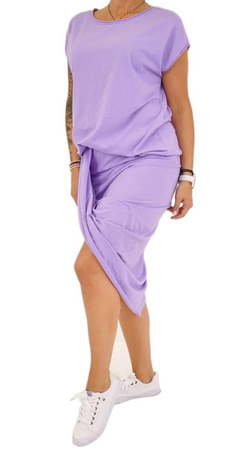 Fioletowy komplet- bluzka i asymetryczna spódnica
