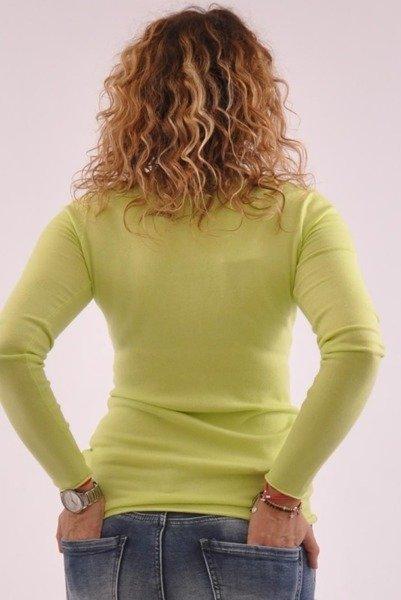 Klasyczny zielony sweter z dekoltem