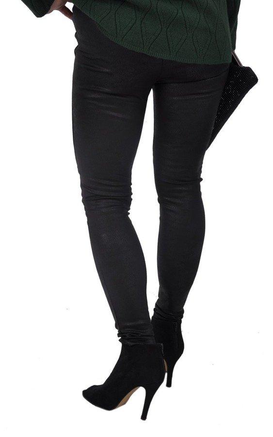 Spodnie leginsy czarne przetarte S