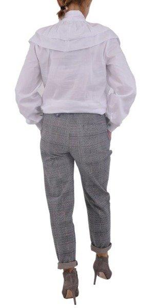Spodnie popiel krata S