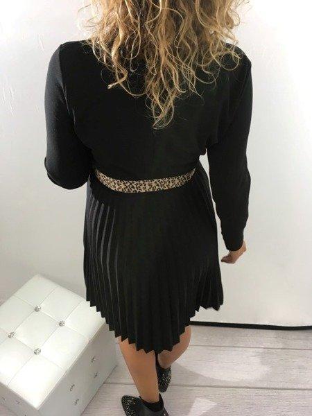 Sukienka czarna plisy święta