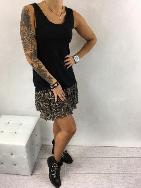 Sukienka czarna z motywem pantery
