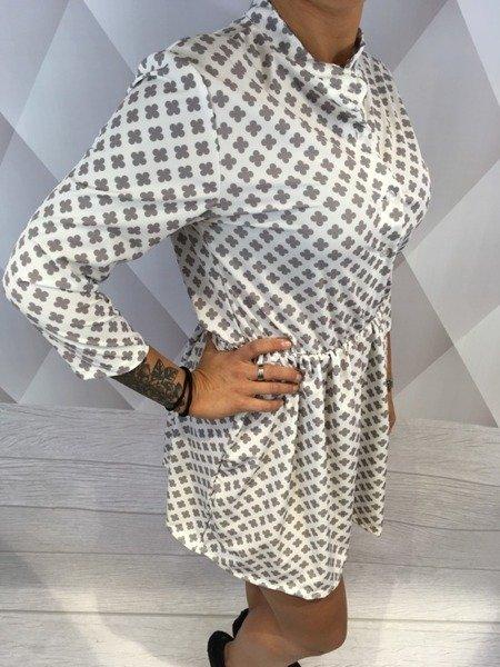 Sukienka koniczynka biała