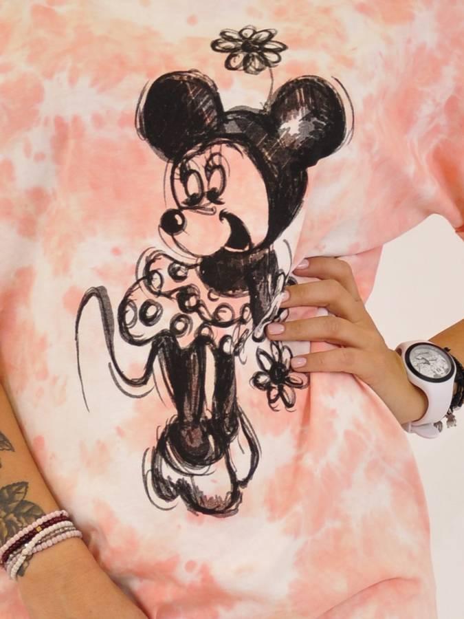 Sukienka różowa cieniowana Myszka Miki