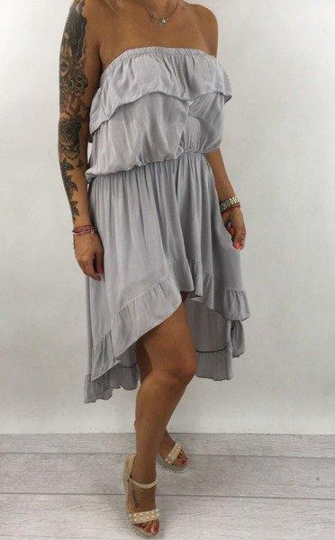 Sukienka szara hiszpanka