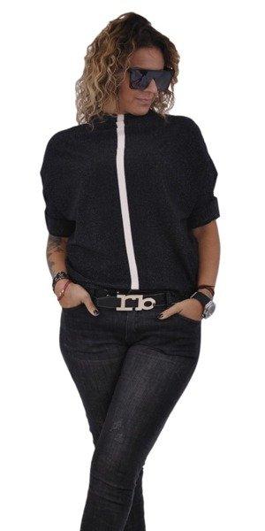 Sweter czarny na stójce L/Xl