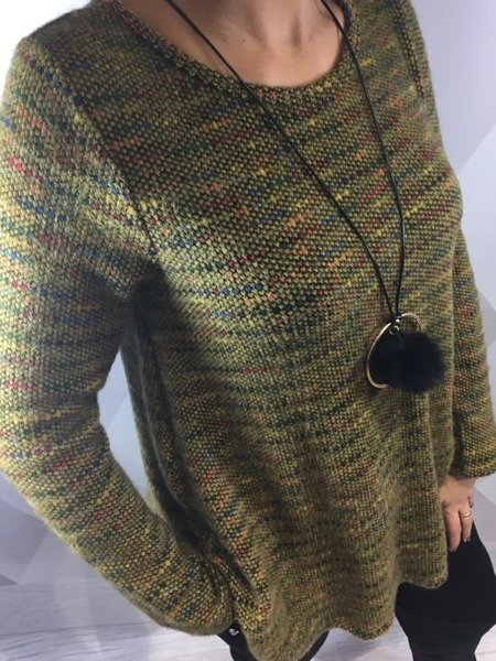 Sweter melanżowy miodowy