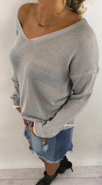 Sweter popielaty