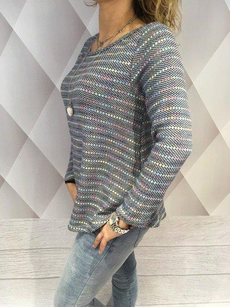 Sweter szary z lańcuszkiem
