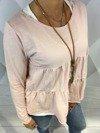 Bluzka różowa z rzem.