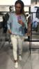 Niebieska bluzka ovesize ze szwem z przodu