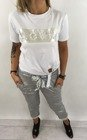 Spodnie bawełniane srebrne.
