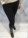 Spodnie czarne perły L