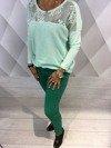 Spodnie zielone rurki XL.