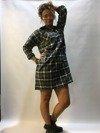 Sukienka krata szara wiązana