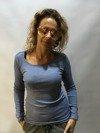 Sweter gładki blu